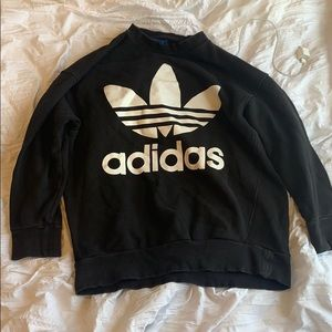 Baggy Adidas Sweater- Black